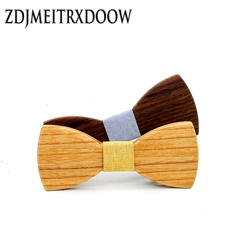 Children Bow Tie Baby Boy Kid Clothing Accessories Solid Color Geometric Shirt Neck Tie Bowknot Wooden bow tie bow tie neck ruffle sweater