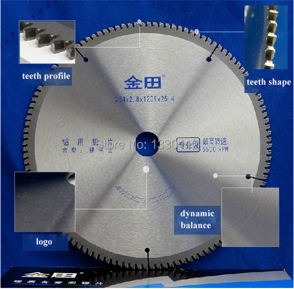 Free Shipping diameter 10 inches 254*2.8*120T*25.4 circular saw blade aluminum for cutting profile pipe tube sell from factory