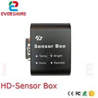 Huidu RGB كامل اللون وظيفة صندوق الاستشعار دعم الأشعة تحت الحمراء ، ودرجة الحرارة/الرطوبة/سطوع الاستشعار العمل مع HD D15/D35/C15/C35/A30-في وحدات LED من مصابيح وإضاءات على