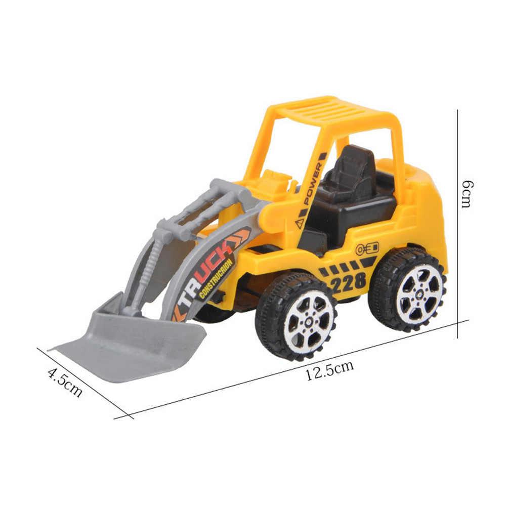 Baby Spielzeug Mini Bau Fahrzeug Autos-Gabelstapler, bulldozer Road Roller Bagger Dump Lkw Traktor Spielzeug für Jungen zufällig gesendet