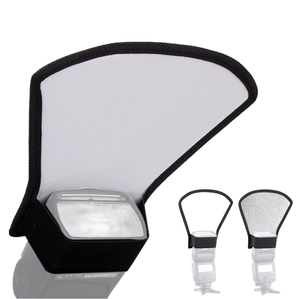 Mini Flash Diffuser Silver White Reflector for Canon 580EX 600EX Nikon Pentax Yongnuo Sony Viltrox JY-680A JY-680Ch Speedlight