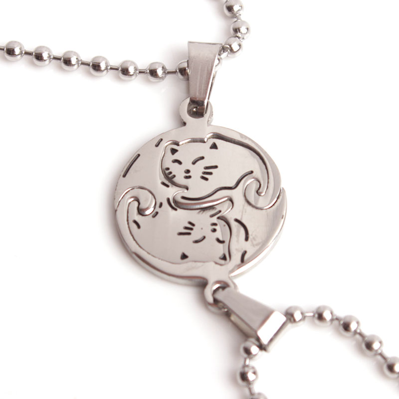 SKYHAI Yin Yang Necklace Stainless Steel