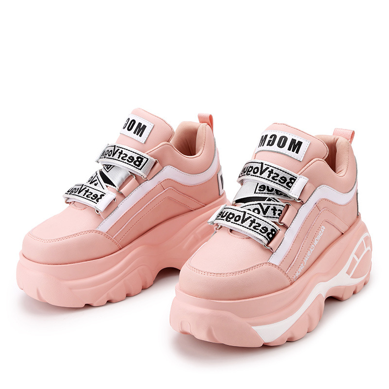Fashion Europe High Top Platform Sneakers Women letter wedges increasing shoes Woman Dad Chunky Sneakers Zapatos De MuJjer
