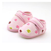 Cute Baby Girls First Walkers Cotton Shoes Cute Pattern Soft Baby Shoes Soft Sole Baby Toddler