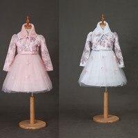 Kids Girls Dress Winter Cotton Cashmere Dress Thicken Long Sleeve Toddler Girl Clothes Princess Costume Christmas Costume