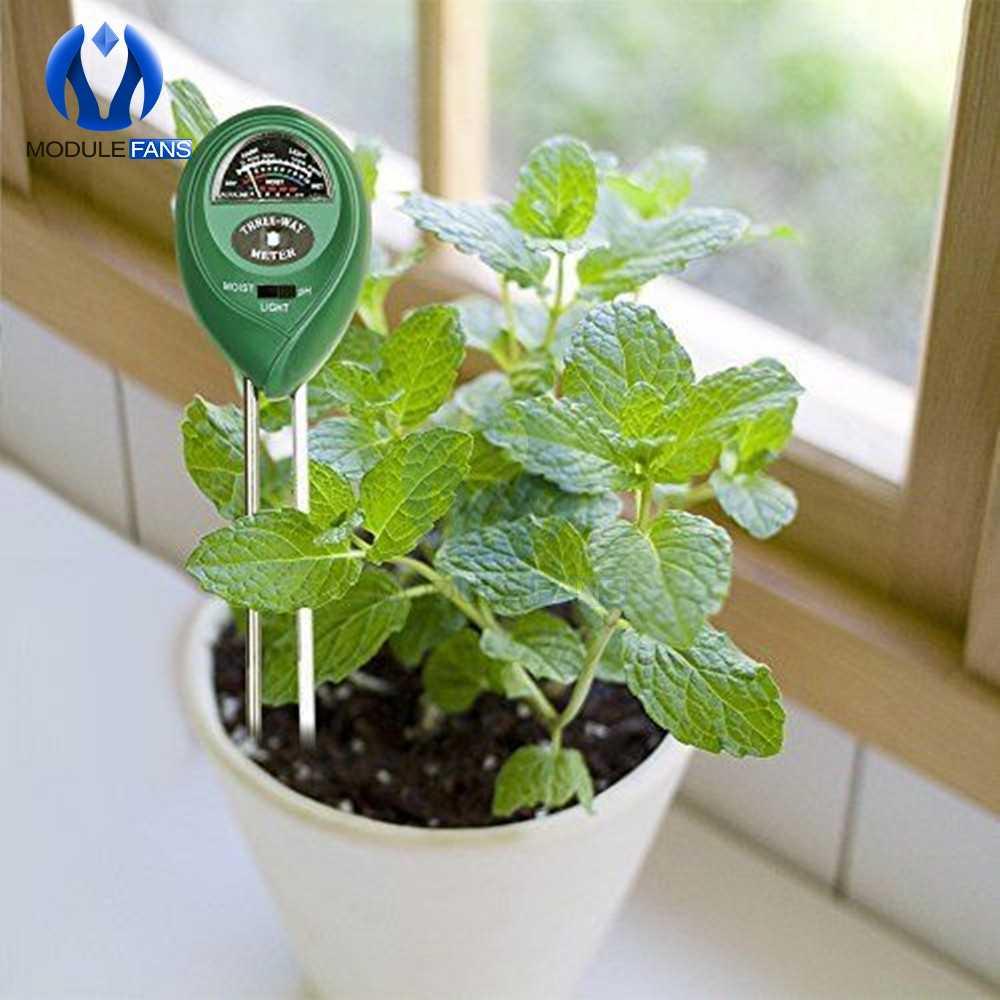 3 w 1 gleby wody wilgotności tester miernika pH cyfrowy Test analizator detektor do ogrodu roślin kwiat hydroponicznych narzędzia ogrodowe
