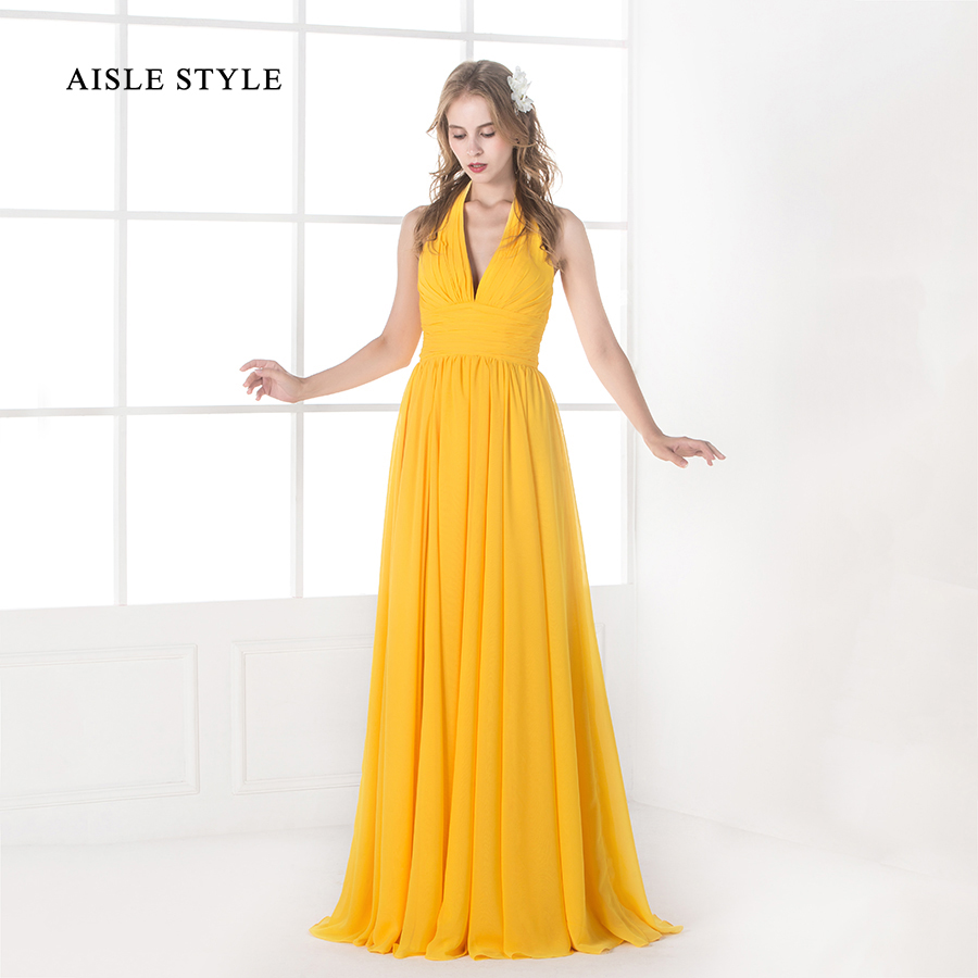 yellow dress flowy aisle style women bridesmaid dresses long yellow flowy 3297