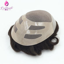 4 In Beautie Fast shipping Durable hairpieces Fine mono Toupee for men