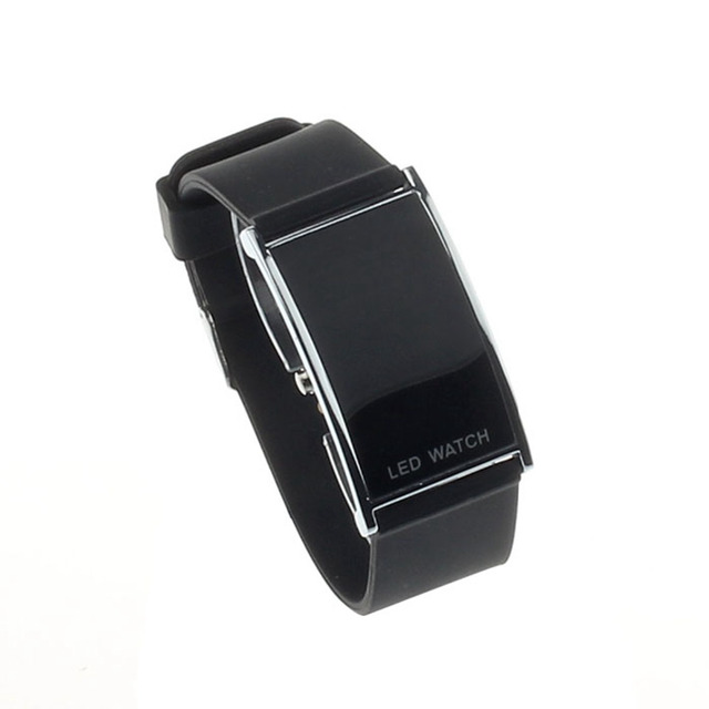 fashion digital watch women men LED Alarm Date Digital Women Men Sports Rubber B