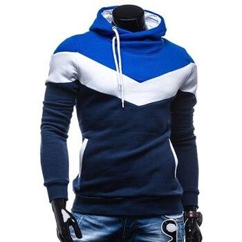 2020 sudaderas con capucha hombres Hip Hop Hoodie marca Color costura sudadera hombres Slim Fit con capucha para primavera invierno Casual Hoodies ropa
