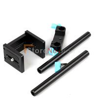 2pcs New 15mm Rail Rod Support System Baseplate Mount For DSLR Follow Focus Rig 5D2 5D3