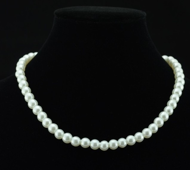 18KGP-N106 New High Quality Simulated Round Pearl Chain Necklace For Women Bridal Jewelry Wedding Gifts Factory Price