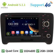 Quad Core 7″ 1024*600 Android 5.1.1 Car DVD Player Radio Stereo PC With DAB+ 3G/4G WIFI BT FM GPS Map USB For Audi TT 2006-2014