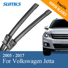 "Sumks Wisserbladen Voor Volkswagen Jetta 24 ""& 19"" Fit Side Pin/Drukknop/Slim Push knop Armen 2005-2017(China)"