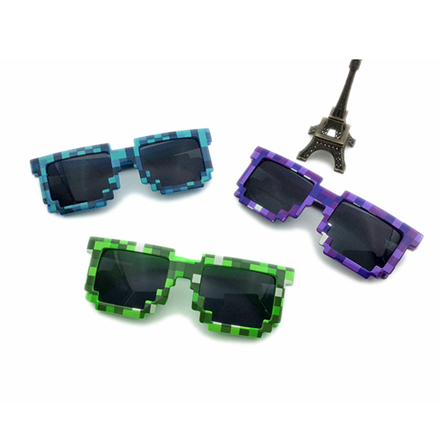 2016 New Kids Toy Cartoon MineCraf Cartoon Sun Glasses Boys Girls Action Figure Plastic Cosplay Christmas