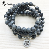 Lubean 2017 Top Design Labradorite Wrap Bracelet Trendy Handmade Men S 108 Mala Yoga Bracelet Or
