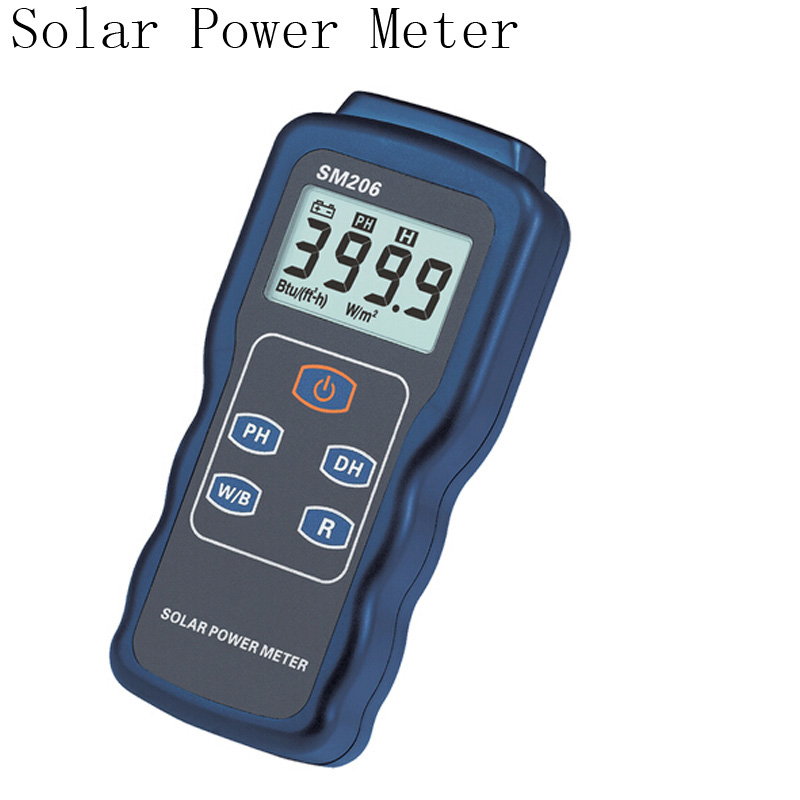 SM206 Solar Power Meter, Light Intensity Measurement Radiation Tester glass light strength tester sm206 solar power meter for solar research