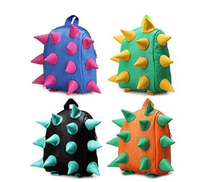 Fashion Pu Leather Kids Backpacks Uni Punk Hedgehog Spike Baby Shoulder Bag Children Boy
