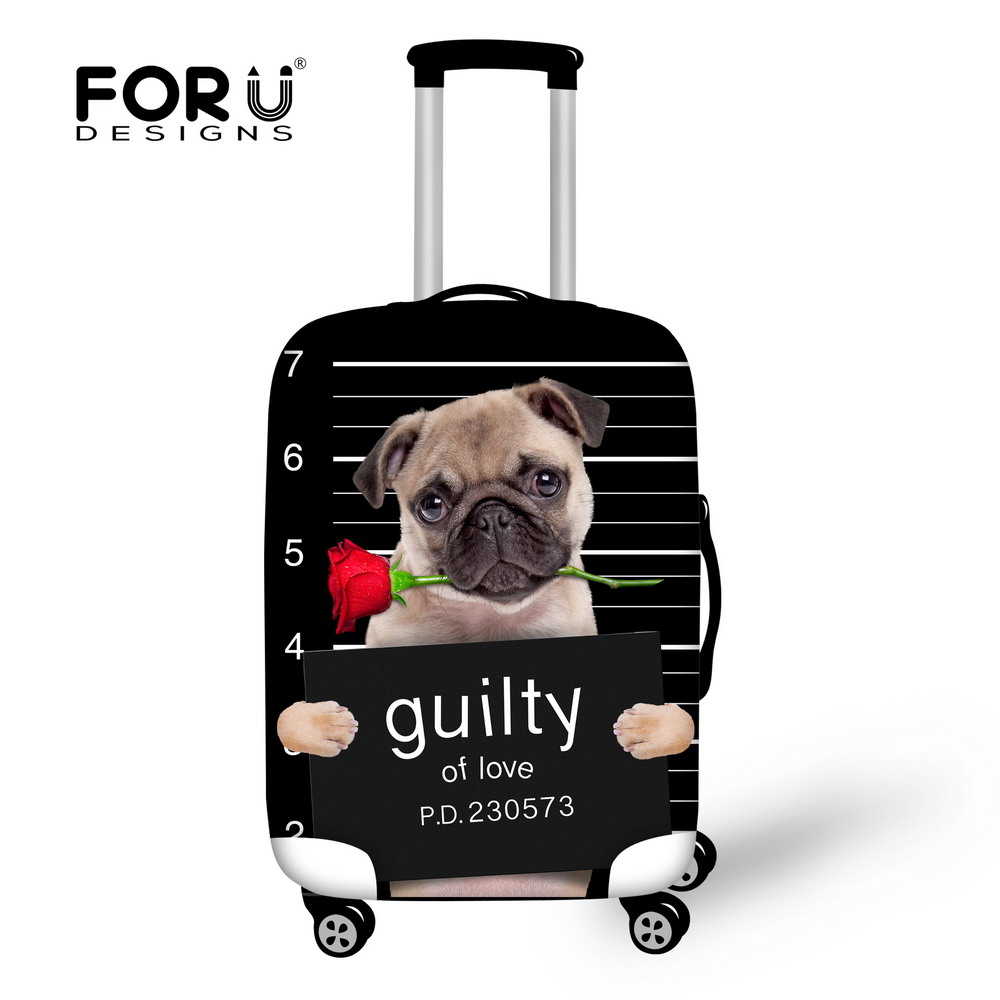 New Fashion 2015 Travel Luggage Suitcase Protective Cover Cute Dog Print Waterproof Luggage Covers Elastic Cover For Suitcase