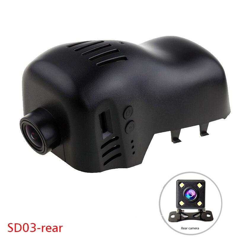 1080P WiFi App Dual Car DVR Dash cam for VW Volkswagen CC Touareg Golf 7 R