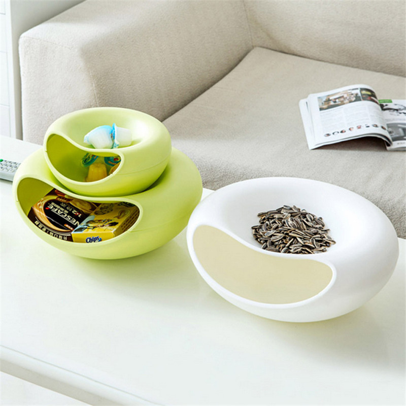 Kitchen Cooking Tool Holder Party Nut Candy Snacks Dry Fruit Melon Seeds Storage Tray Plate Dish