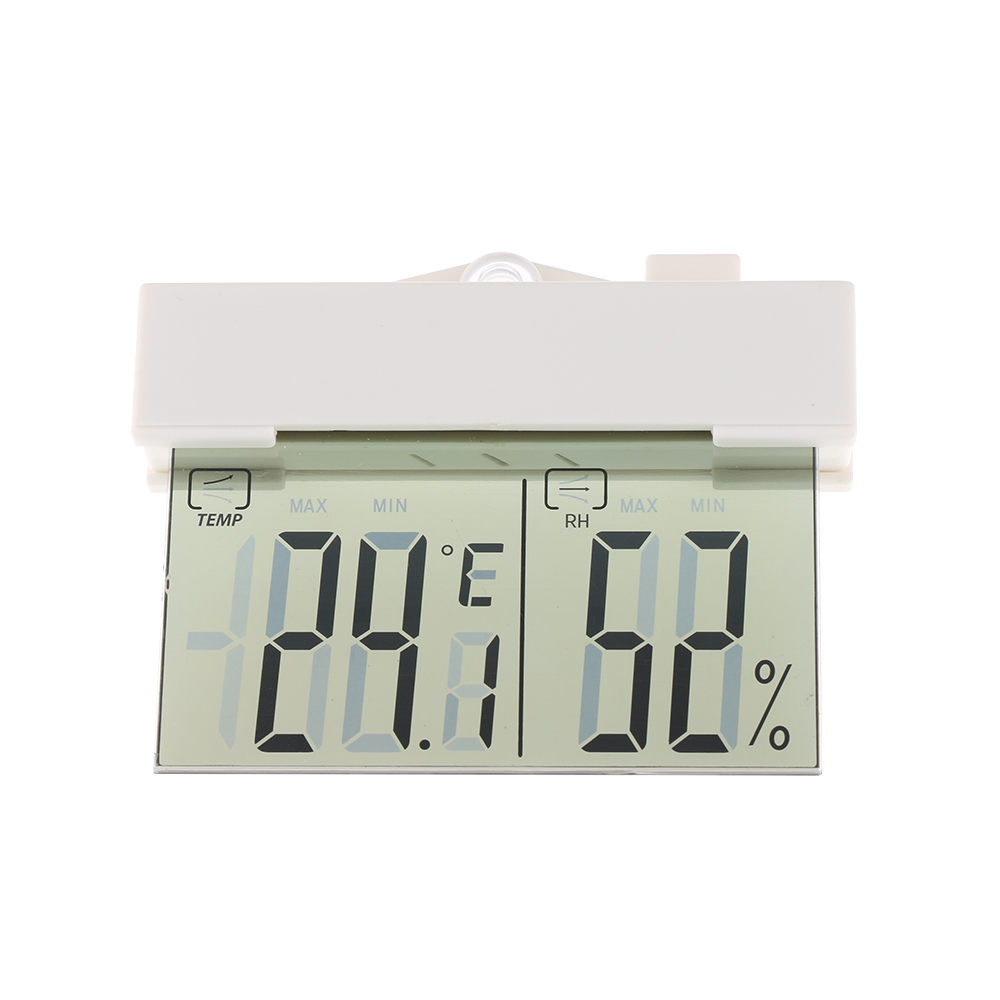 Transparent LCD Digital Thermometer Hydrometer Window Indoor ...