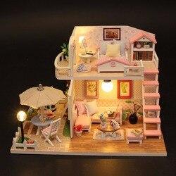 Рождественские подарки миниатюрный Diy игрушка-головоломка Кукольный дом модель деревянная мебель строительные блоки игрушки подарки на де...
