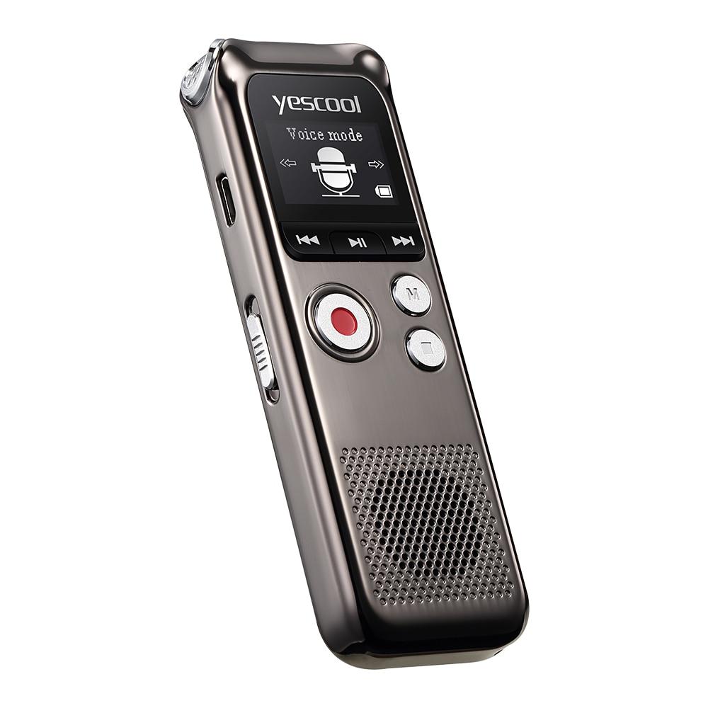 Yescool recharge rapide 8 GB Microphone bidirectionnel professionnel enregistreur vocal numérique Dictaphone espia enregistreur audio lecteur MP3 - 3