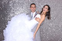 Big Size Silver Sequin Curtain, 10ftx20ft Sequin Backdrop for Wedding Photo Booth/Christmas Party Decoration
