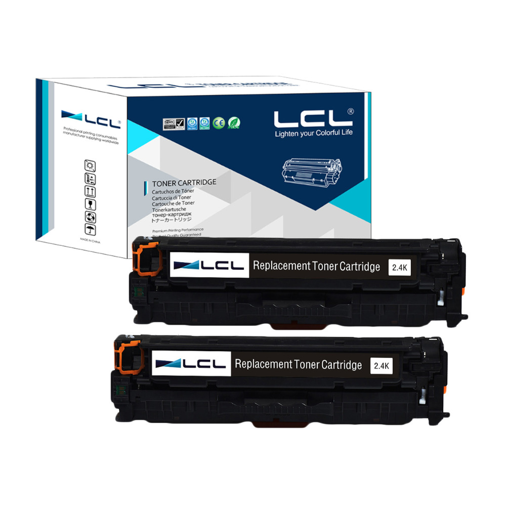 LCL 312A 312 A CF380A 380A 380 CF 380 A (2-Pack)Compatible Laser Toner Cartridge for HP Color LaserJet Pro M476dn MFP/M476dw MFP postman pig and his busy neighbors