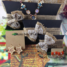 Wholesales Fashion Jewelry BOX Kraft BOX Pillow BOX For Earring /Necklace /Ring /Jewelry Set /Hand Made Gift