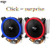 Aigo Icy E3 CPU Cooler 4 Heatpipes Dual PWM 4pin 12V 120mm Double Ring LED Fan