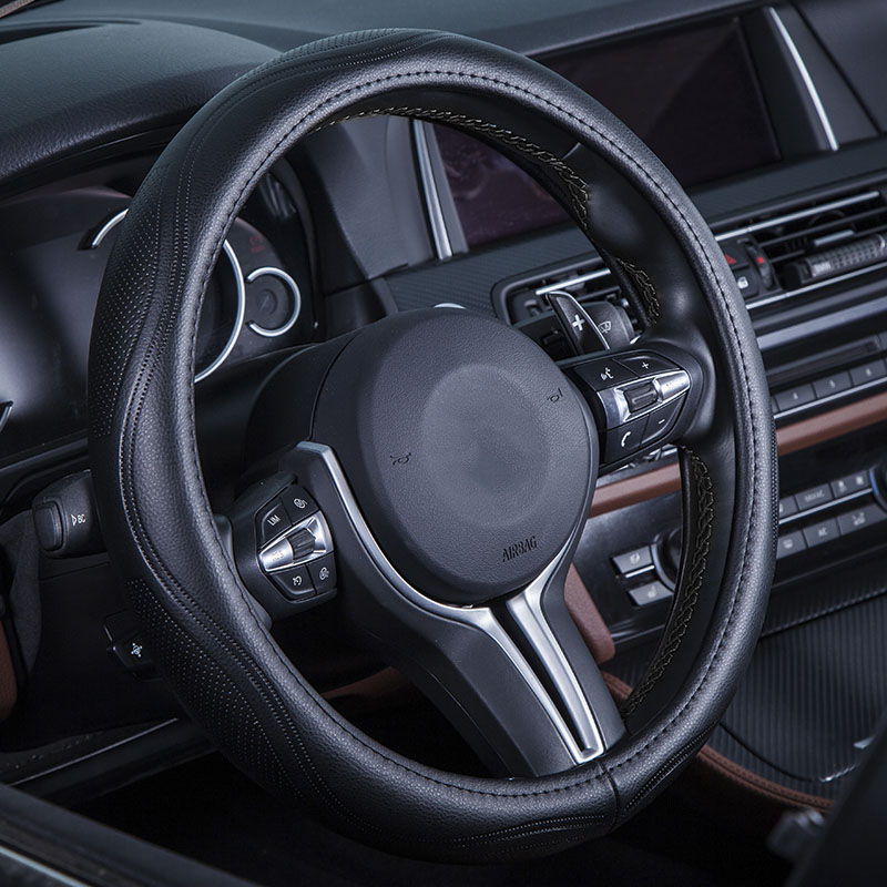 Genuine Leather Car Styling Steering Wheel Cover For BMW 5series E39 E60 E61 F10 F11 F07 GT 520i 525i 528i 530i 535i accessories