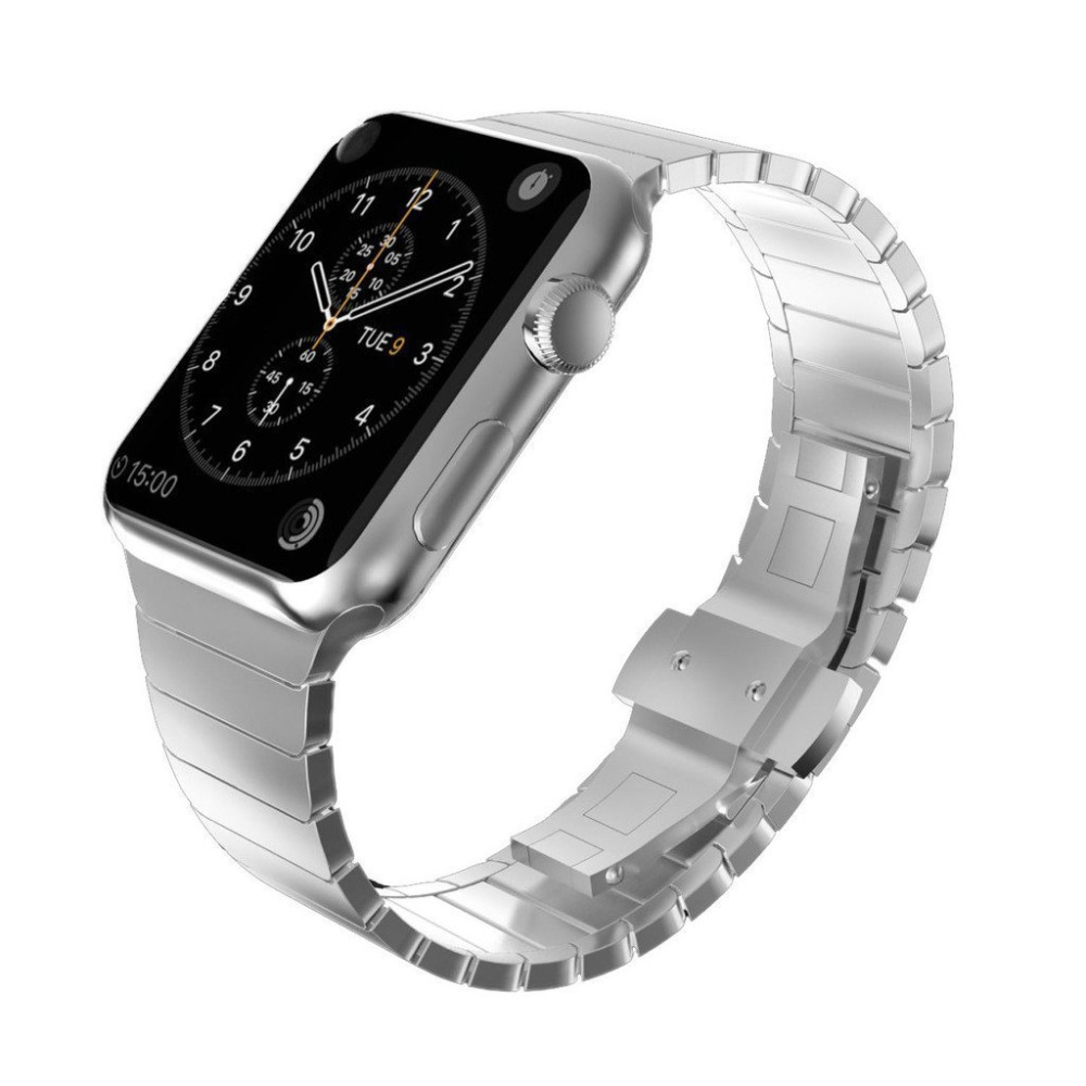 Stainless Steel Strap for Apple Watch Band 38mm 42mm Series 1 2 3 Luxury Business Metal Belt Bands Watchbands for iwatch Straps isunzun watch bands for tissot 1853 t045 407a t045 harbor series steel strip brand watch straps stainless steel watch chain