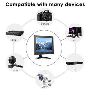 Image 5 - ZHIXIANDA Cheap Lcd Monitor 8 Inch 1024*768 CCTV Security Monitor With VGA HDMI USB BNC AV Two Speakers
