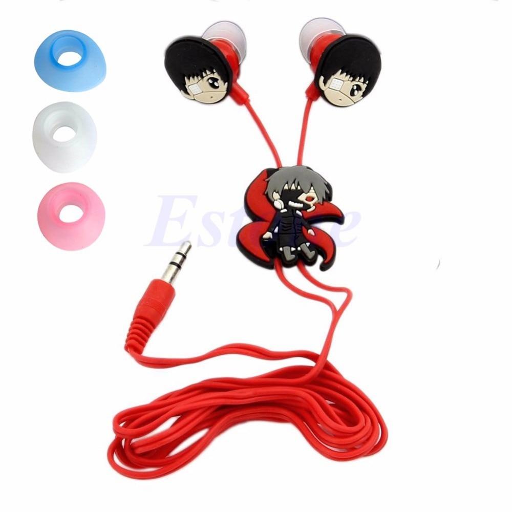 Fashion Anime Tokyo Ghoul Kaneki Ken Earphone Earbuds Headphones Headset Cosplay