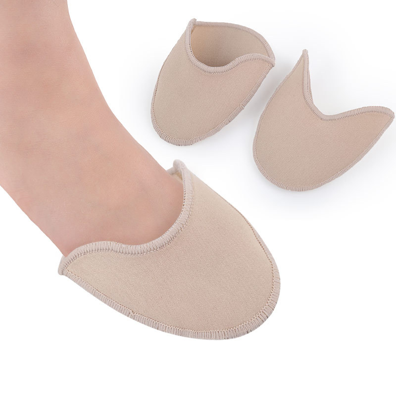 Pump Pouches Protection for Feet Against Pressure /& Friction 2 Pairs Toe Protectors Skin Color and White Professional Ballet Shoes Front Toe Caps Cover with Breathable Hole Cushions Pain Relief