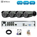 BFMore 4CH H.265/H.264 5.0MP POE NVR Kit CCTV System IP Camera IP67 Outdoor Weatherproof Video Security Surveillance Set Seetong