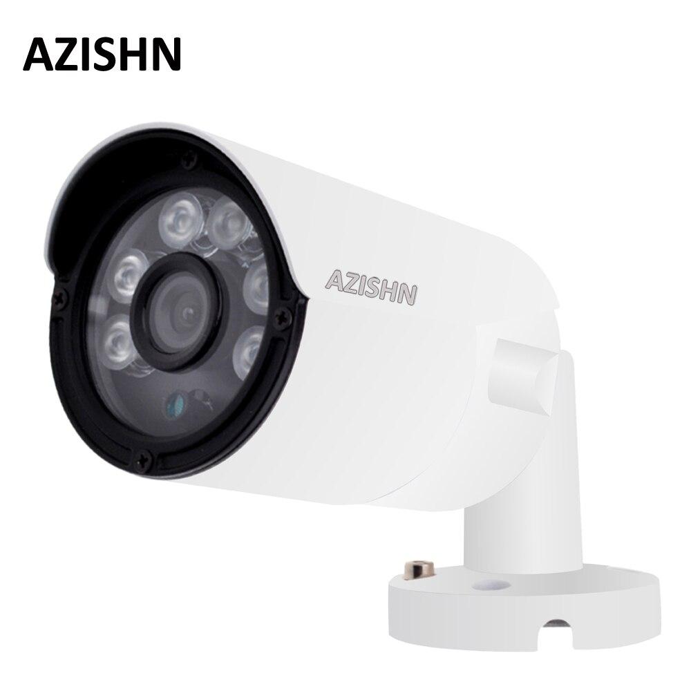 "AZISHN 4MP IP Camera  ONVIF H.265/H.264 25fps Surveillance Outdoor IP66 metal CCTV  Camera Hi3516D+1/3""OV4689 6pcs ARRAY LEDS-in Surveillance Cameras from Security & Protection    1"