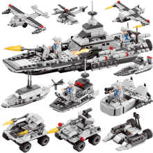 472PCS INVINCIBLE BATTLESHIP Warship NAVY Bricks Military ARMY Soldiers Building Blocks Toys For Children купить недорого в Москве