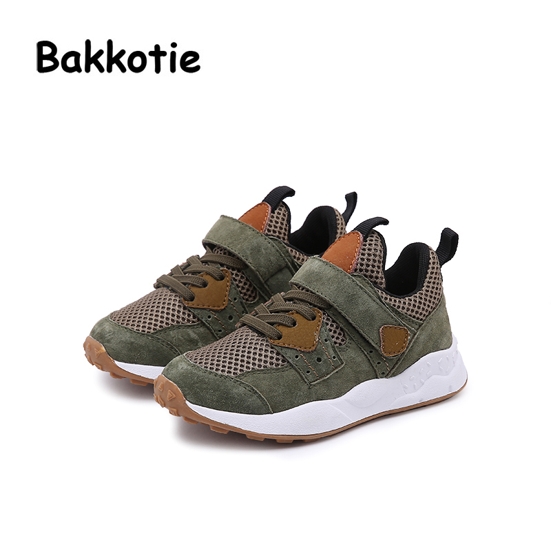 Bakkotie 2018 Spring Autumn Baby Boy Fashion Child Leisure Sport Shoes Loop Girl Casual Breathable Sneaker Kid Trainer Toddler bakkotie 2017 new autumn baby boy casual shoes khaki genuine leather black kid girl brand flat shoes soft sole breathable child