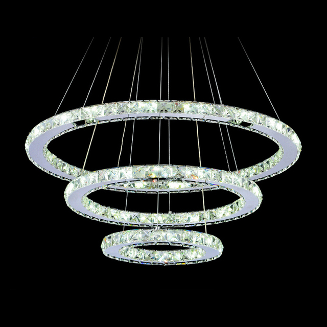 buy diamond crystal ring led chandelier crystal lamp modern crystal light. Black Bedroom Furniture Sets. Home Design Ideas