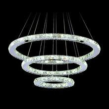 Diamond Crystal Ring LED Chandelier Crystal Lamp Modern Crystal Light Fixture Circle Hanging Lustres LED Luminaire Home Lighting