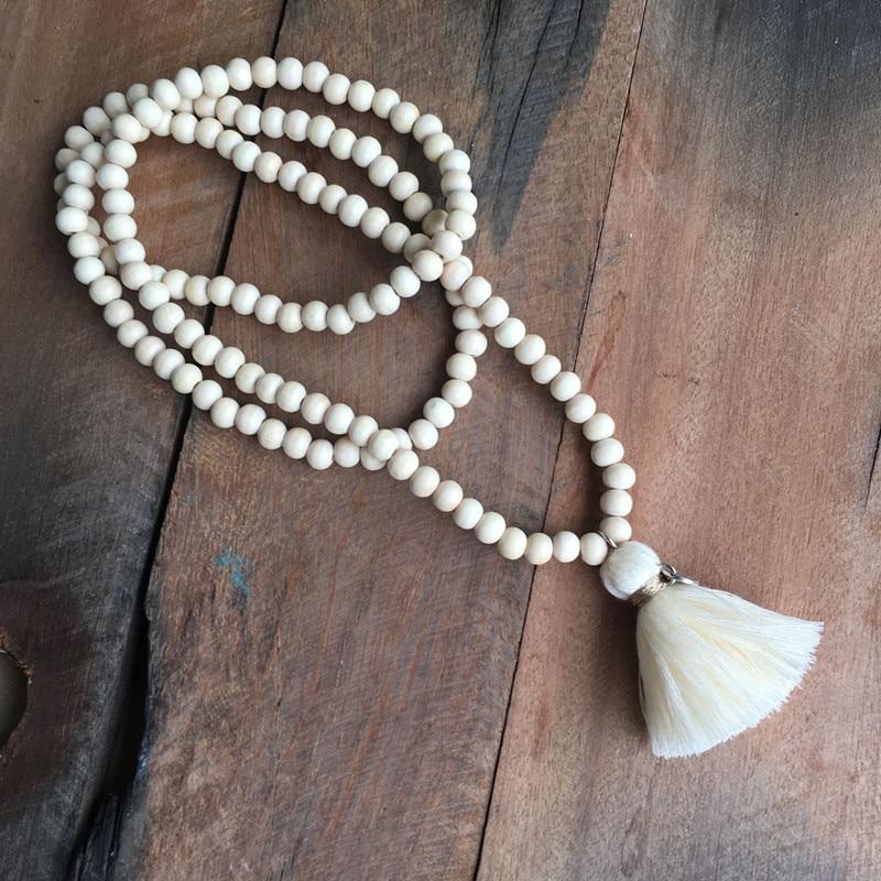DM perles en bois Long colliers gland pendentif dames mode Boho bijoux collier femme 2018 kolye bisutérus cadeaux pour les femmes
