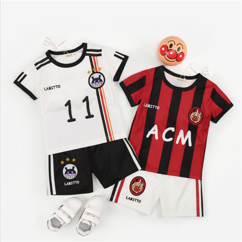 2018 Summer World Cup Kids Kit Jersey France Home Away Soccer Jerseys Short Sleeve T Shirt + Shorts 2pcs Childrens Sports Suits