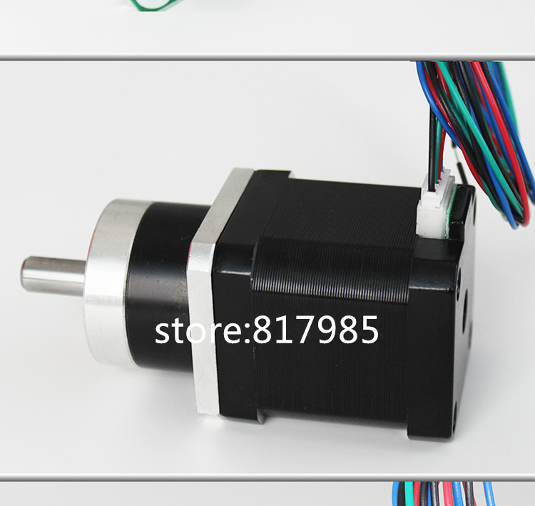 Planetary Gearbox stepper motor Nema 17 Reduction ratio 51:1 Geared Stepper Motor 3d printing stepper motor high quality 5n m 42 42 119 7mm brushless dc motor with planetary gearbox reduction ratio 104 8