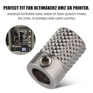 Image 4 - 2 pièces en acier inoxydable moleté 3D imprimante Extrude entraînement engrenage chargeur roue alésage 5mm pour Ultimaker2 UM2