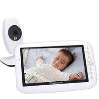 IR Night Vision Intercom 4 Lullaby LCD Screen Nanny Video Baby Monitor,7 Inch Wireless Baby Monitor Camera Supports Screen Split