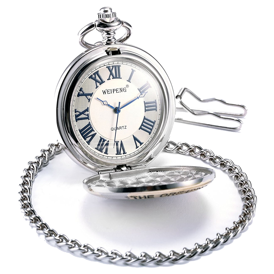 Pocket Watch, Mechanical, Analog, Silver Case цена и фото