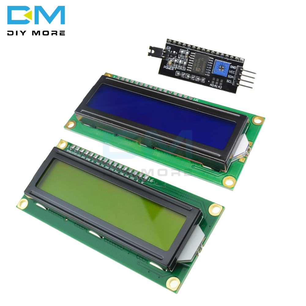 16x2 Blue/Yellow Digital Backlight Display Module Board For Arduino IIC I2C TWI SPI Serial Interface 1602 Character LCD 5V
